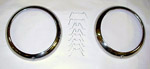 1949 Headlight outer bezels, stainless steel