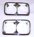 1969 Headlight bezels, chrome