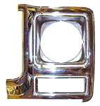 1979 Headlight bezel, left