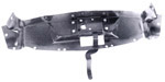 1953 Hood latch panel, black