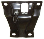 1962 Hood latch panel, black
