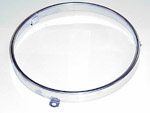 1941 Headlight sealed beam retainer rim, stainless steel