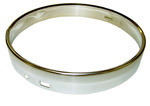 1955 Headlight sealed beam retainer rim, stainless steel