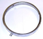 1966 Headlight sealed beam retainer rim, stainless steel