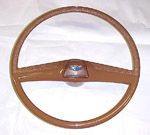 1970 Steering wheel and horn button cap, saddle