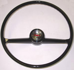 1965 Steering wheel, black