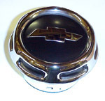 1958 Horn button cap, chrome with black details