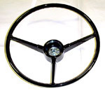 1968 Steering wheel, black