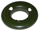 1967 Shaped spacer, green