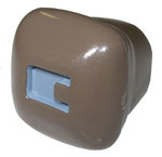 1943 Choke knob, rose tan with gray letter C