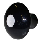 1954 Cigarette lighter knob, black with white dot