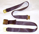 1968 Lap seat belt, black webbing