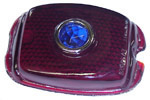 1950 Taillight lens, red with blue dot