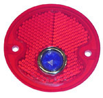 1954 Taillight lens, red with blue dot
