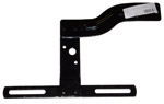1940 Taillight bracket with license plate bracket, black