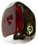 1943 Taillight assembly, red glass lens