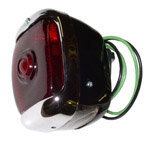 1940 Taillight assembly, red glass lens