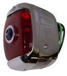 1942 Taillight assembly, red glass lens with blue dot
