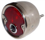 1954 Taillight assembly, red lens with blue dot