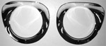 1956 Headlight outer bezels, chrome