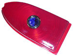 1955 Taillight lens, red with blue dot