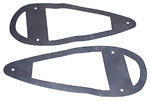 1945 Headlight housing to fender gaskets, 19 inches x 7-1/2 inches