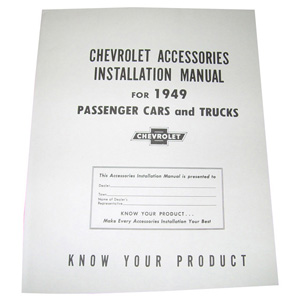 1949 Accessory installation manual, Chevrolet