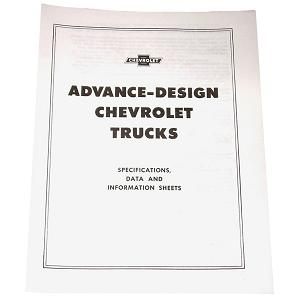 1949 Advance design trucks pamphlet, specifications and data for Chevrolet and GMC