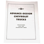 1948 Advance design trucks pamphlet, specifications and data for Chevrolet and GMC