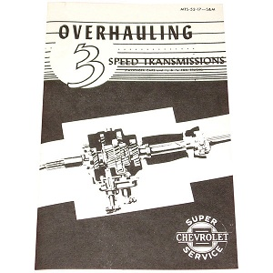 1949 Transmission overhaul manual, 3 speed