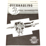 1953 Transmission overhaul manual, 3 speed