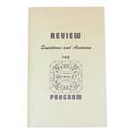 1936 Mechanics study guide booklet, used in the mid 1940s for mechanics to prepare for the GM shop test