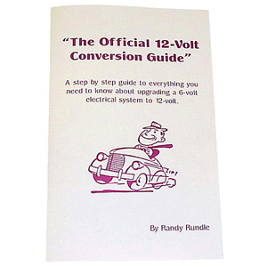 1949 The Official 6 Volt to 12 Volt Conversion Guide book, includes bulb interchange numbers