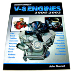 1976 Standard Catalog of V8 Engines book, Chevrolet and other makes