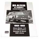 1980 Blazer and Jimmy Limited Edition Extra book, softbound