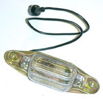 1981 License lamp assembly, rear