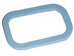 1981 License lamp lens gasket, rear