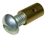 1950 Brass stop for throttle cable