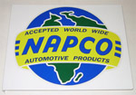 1980 Metal sign with NAPCO (4x4) decal, 17 inches by 14 inches