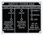 1958 Napco Powr-Pak shift pattern plate, metal