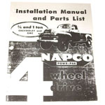 1963 Napco installation manual for 3/4 and 1 ton trucks, copy