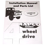 1963 Napco installation manual for 1-1/2 and 2 ton trucks, copy