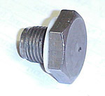 1955 Oil drain plug with washer, 216 L6 engine