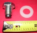 1982 Oil drain plug, magnetic