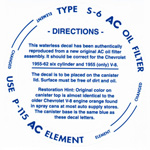 1958 Oil filter decal, AC type