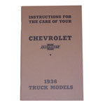 1936 Owners manual, Chevrolet