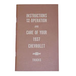 1937 Owners manual, Chevrolet