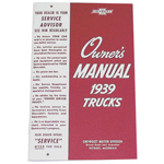 1939 Owners manual, Chevrolet