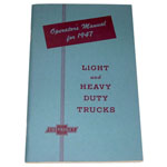 1947 Owners manual, Chevrolet