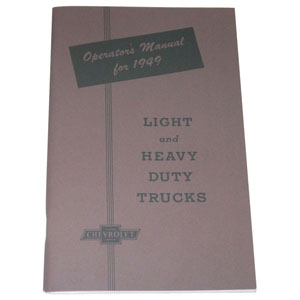 1949 Owners manual, Chevrolet